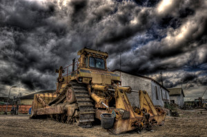 Caterpillar Dozer, Thorupstrand © David Hamilton Melby high dynamic range
