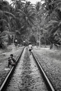People on train track, Sri Lanka © David Hamilton Melby