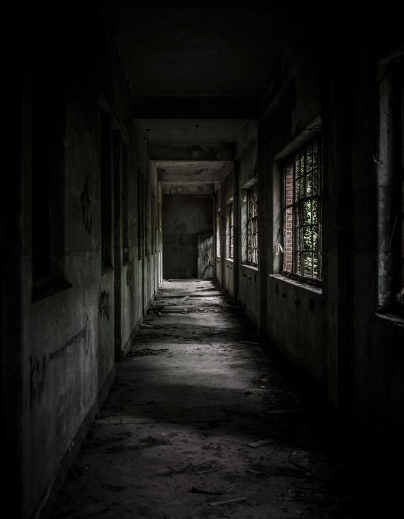 Fort de la Chartreuse military base belgium decaying hallway ground level © David Hamilton Melby